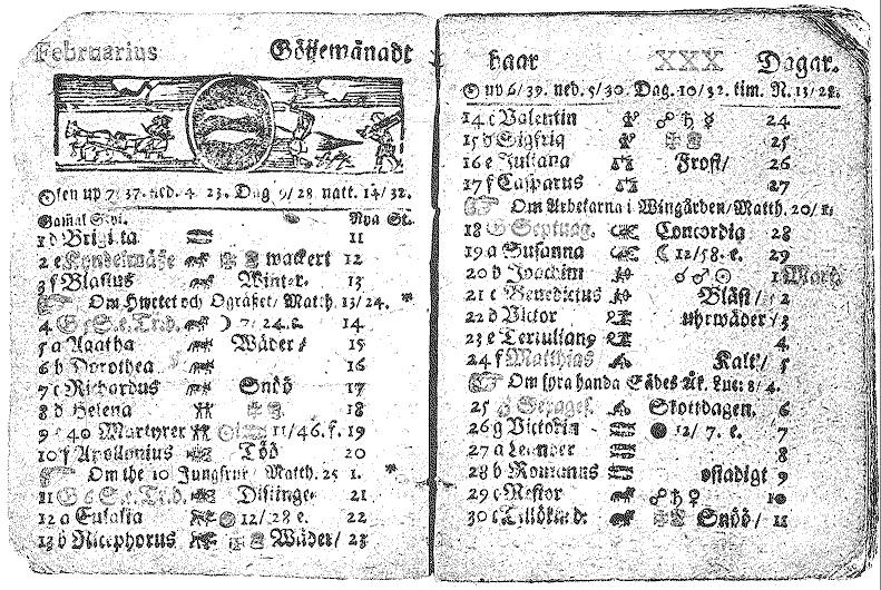 A Swiss Julian calendar