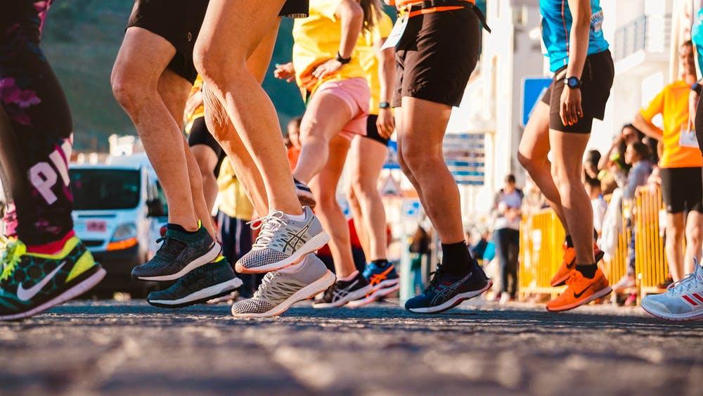 marathon runners exercise fitness