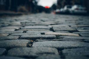 brick/stone paved road