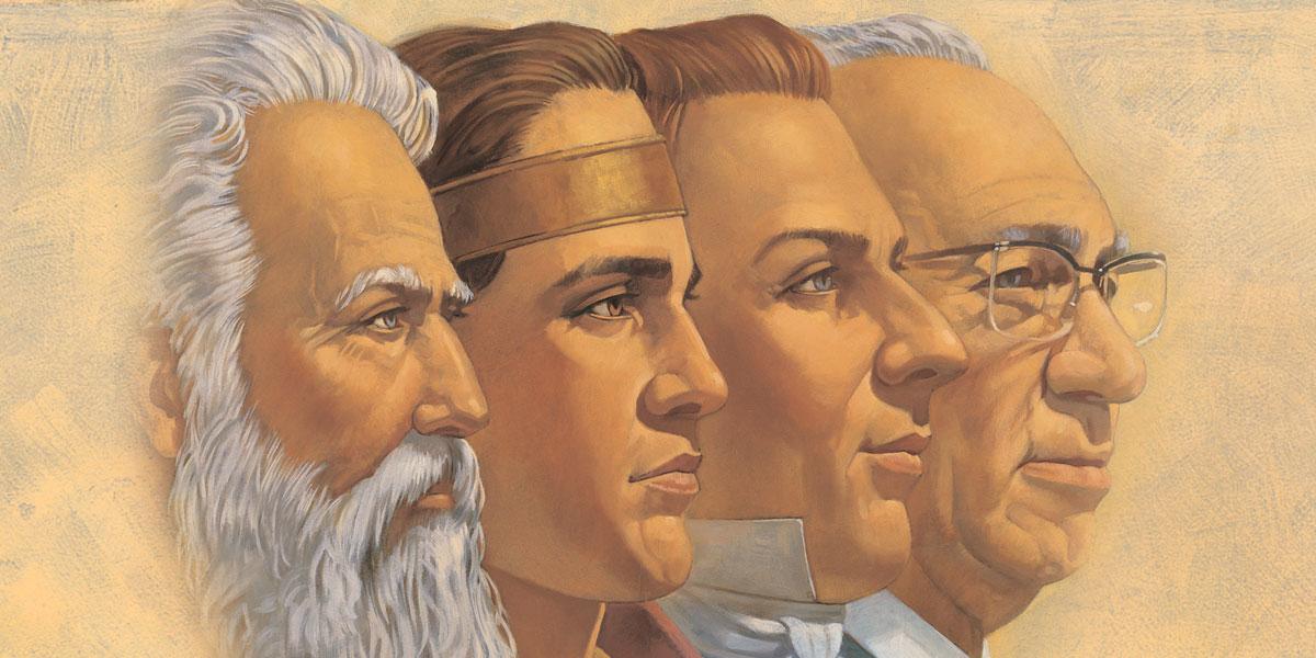 Four Prophets by Robert T. Barrett via churchofjesuschrist.org
