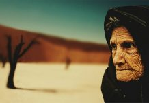 old lady, poverty