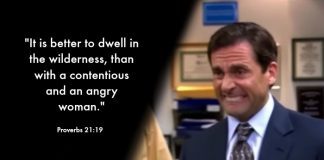 Michael Scott combined with the scriptures.