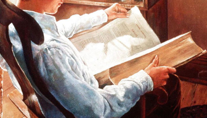 Joseph Smith reading the Book of James