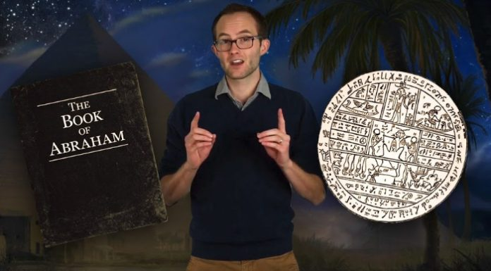 Man talking about the Book of Abraham.