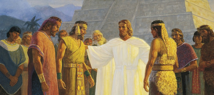 Painting of Christ calling apostles in America, who later experienced transfiguration.
