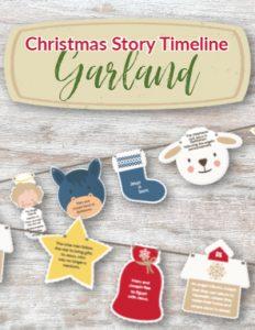 christmas garland kids printable