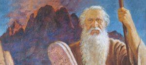Moses leaving Mt. Sinai.