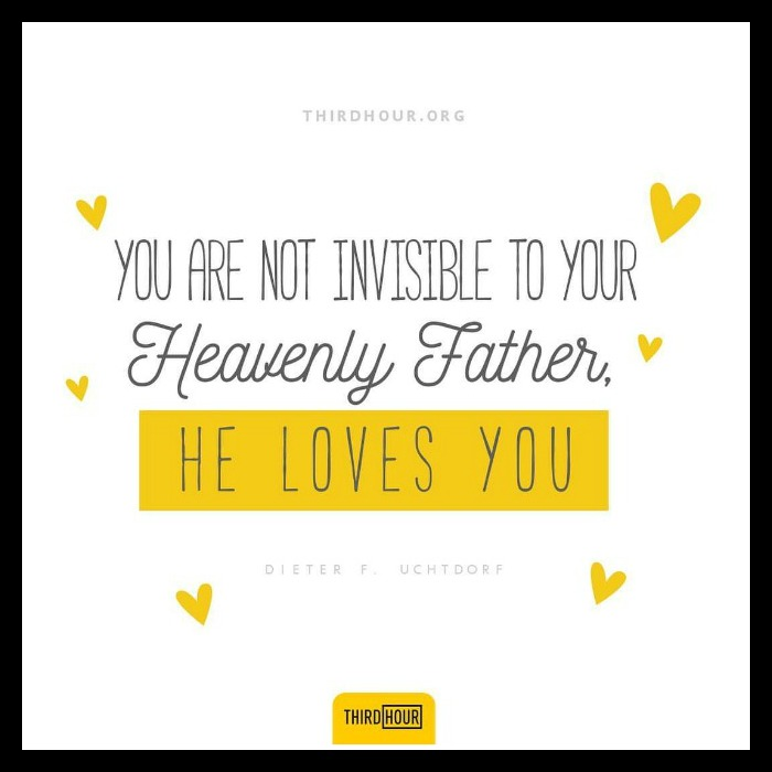 quote about heavenly father's love for you