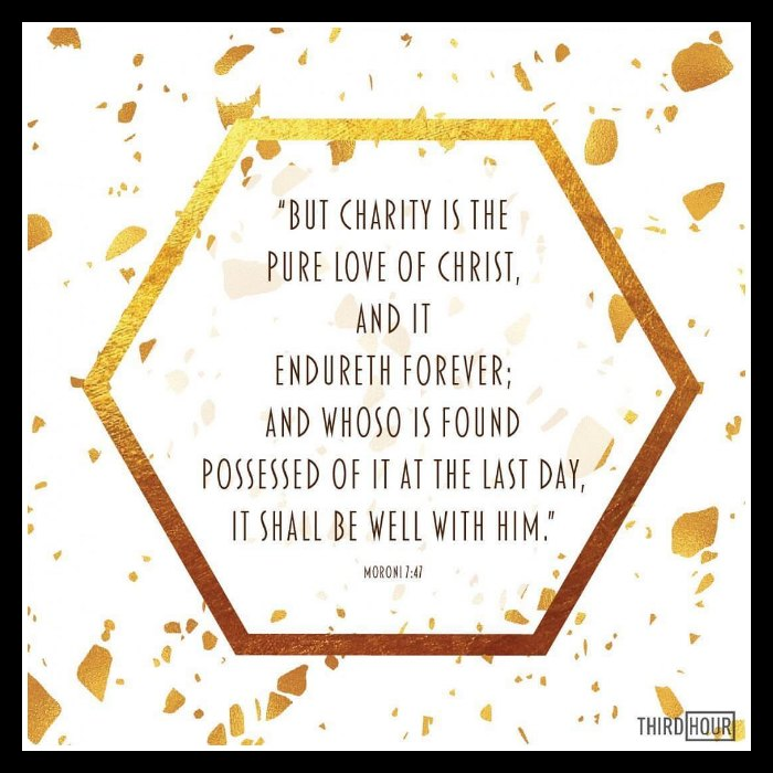 charity is the pure love of christ