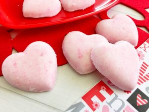 valentine's day heart shaped bath bombs