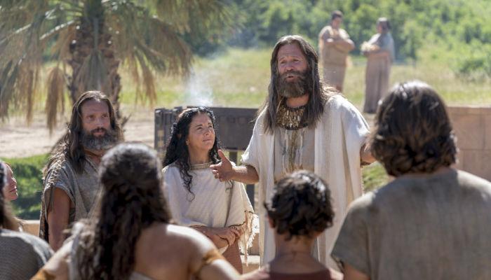 Jacob teaching Book of Mormon