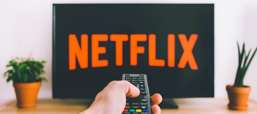 Man watching Netflix.