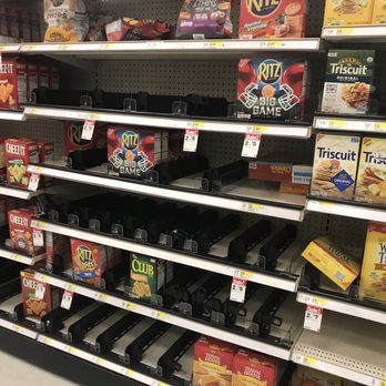 empty snack shelf