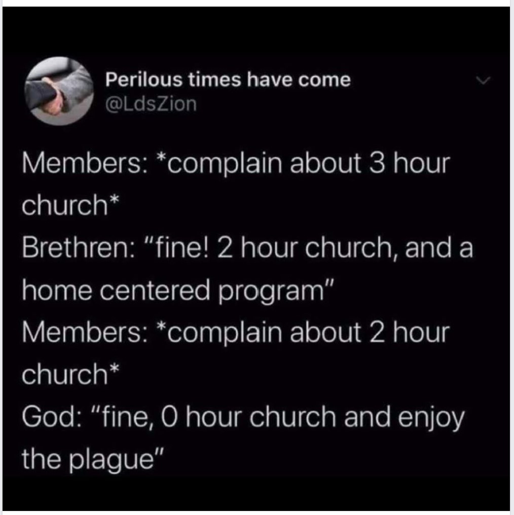 Meme about church