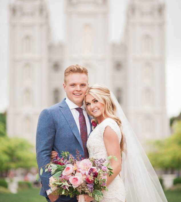 Member of the church, Lindsay Arnold, was married in SLC Temple