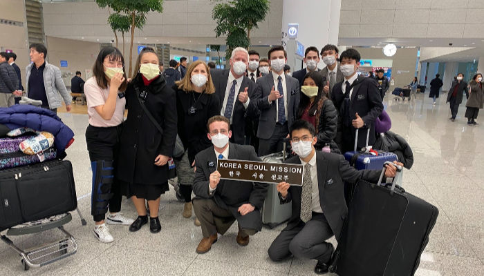 lds missionaries returning from Korea during Covid