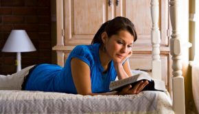 young woman studying scripture