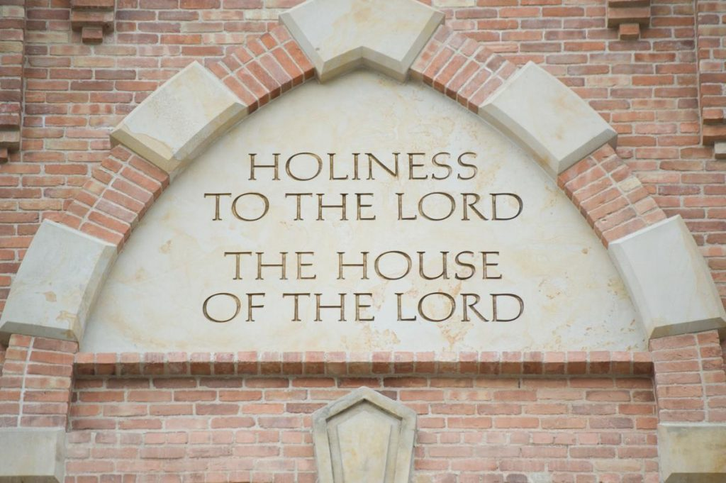 holiness to the lord the house of the lord outside latter-day saint temple