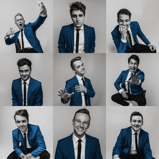 byu vocal point photoshoot for new album