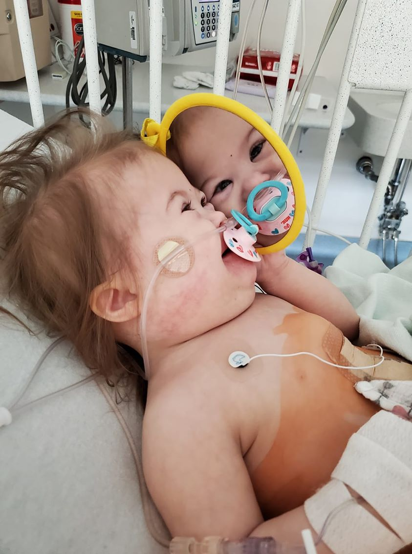 Baby Madison in hospital