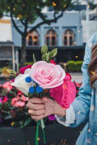 felt flowers for a quarantine crafts