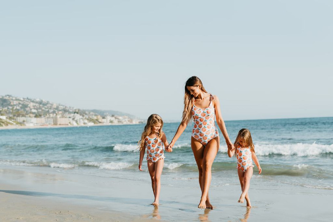 mommy and me swimsuits from pink desert
