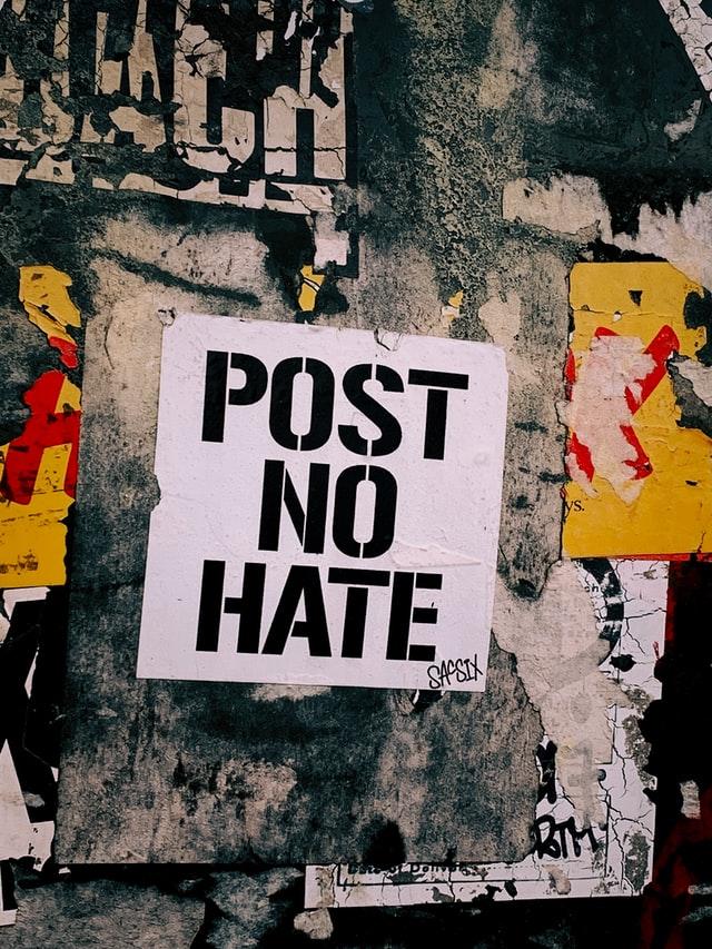 graffiti post no hate