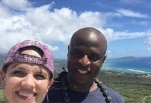 julie boye and alex boye pose together