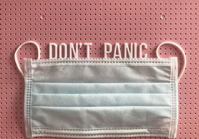 don't panic wear a mask
