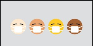 coronavirus has no race emojis wearing masks