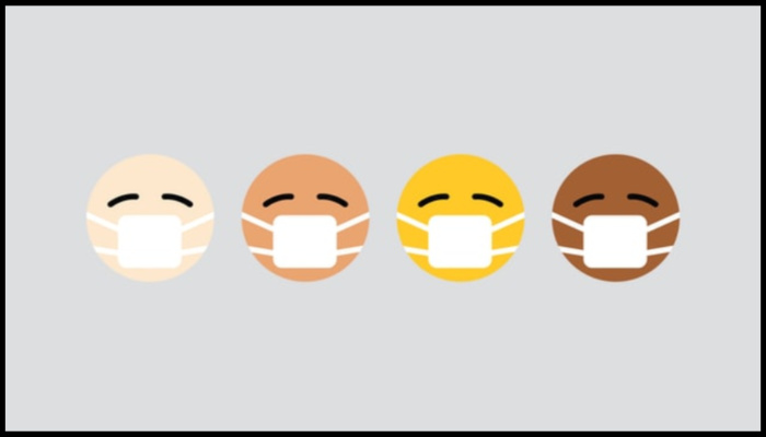 coronavirus has no race emojis wearing masks