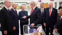 lds church leaders shaking hands with donald trump