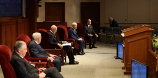 lds prophets and apostles sit at virtual general conference april 2020