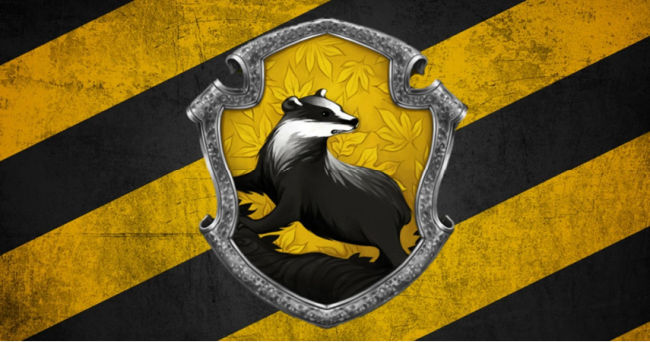 hufflepuff banner header with badger