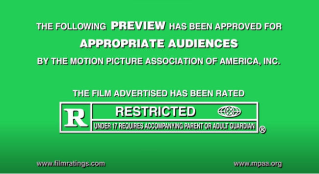 movie rating R