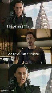 Avengers/ Elder Holland meme
