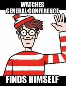 Where's Waldo General Conference meme