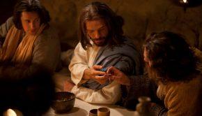 Christ passes the sacrament