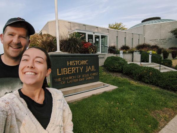 brooklyn and timothy visiting historic sites during covid-19 liberty jail