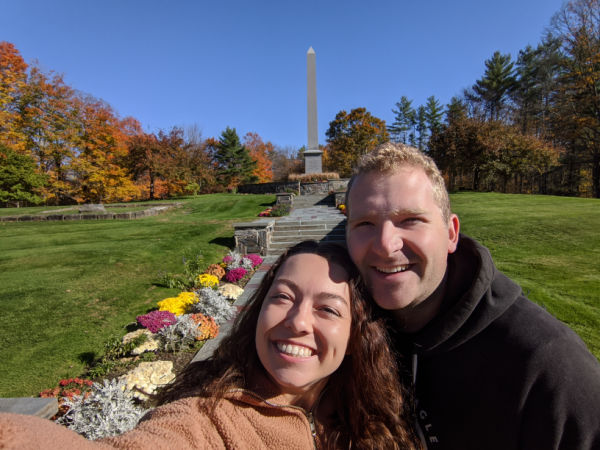 couple at joseph smith birthplace memorial during covid-19