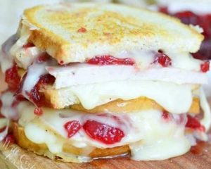 Turkey/Brie/Cranberry Grilled Cheese