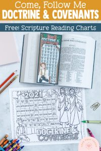 love pray teach doctrine and covenant reading chart