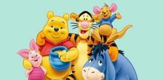 winnie the pooh and his friends smiling