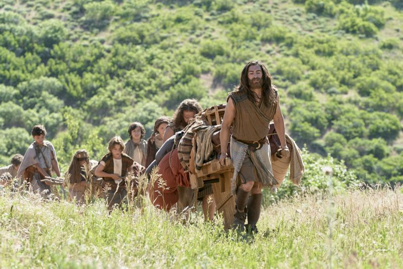 Nephi leading his family away from Laman and Lemuel. Sometimes to calm contention, you just have to walk away.