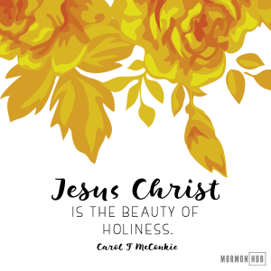 Jesus Christ is the beauty of holiness