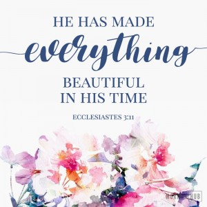 He has made everything beautiful in His time.