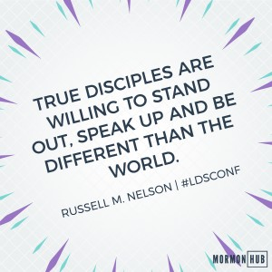 True disciples are willing to stand out, speak up and be different than the world